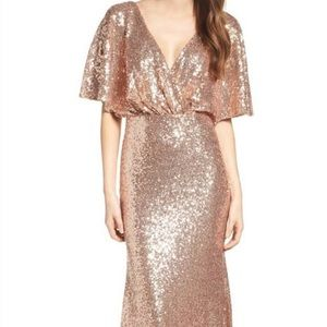 Rose Gold Sequin Long Gown